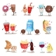 Food and Drink Characters Set