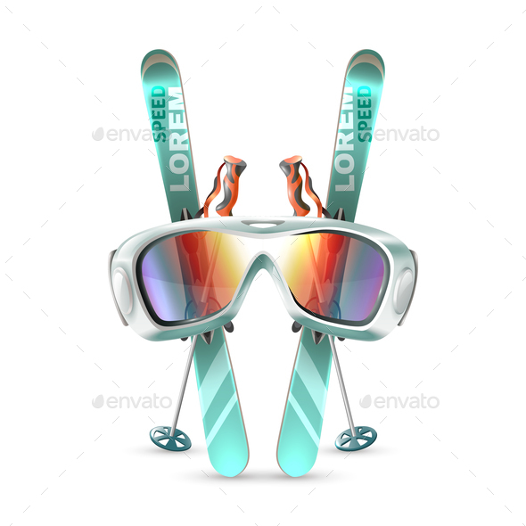 GraphicRiver Ski Club Icon Set 21019549