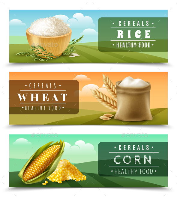 GraphicRiver Cereals Banner Set 21019555