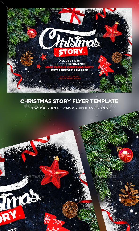 GraphicRiver Merry Christmas Flyer 21019556