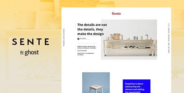 ThemeForest Sente Magazine Ghost Blog Theme 21019644