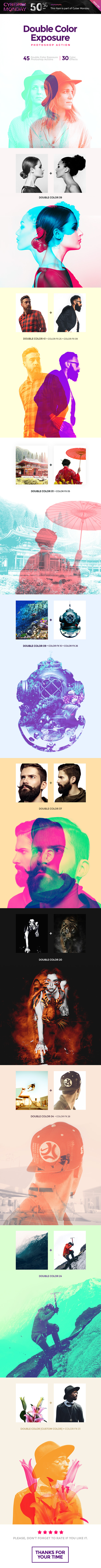 Double Color Exposure Photoshop Action - Photo Effects Actions