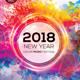 2018 New Year Color Music Festival Flyer Template