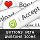 21 Premium Buttons with Icons!