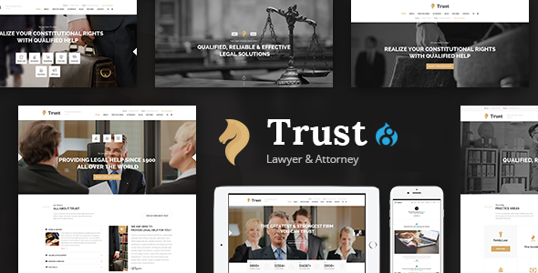 Trust - Lawyer & Attorney Business Drupal 8.4 Theme - Business Corporate