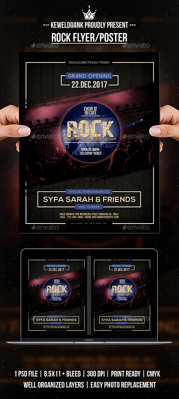 Rock Flyer / Poster - Concerts Events