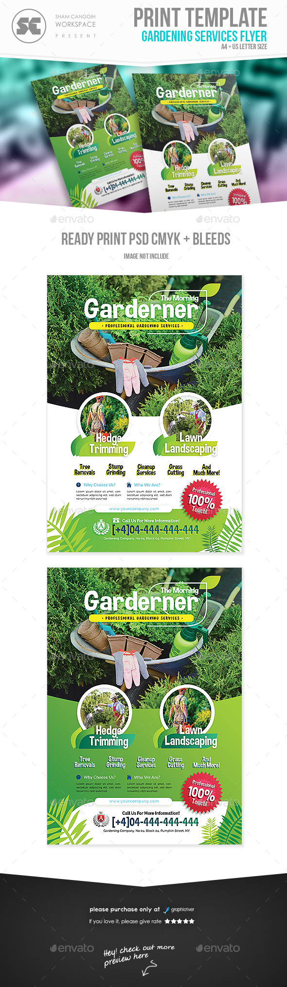 GraphicRiver Garden Service Flyer 21020185
