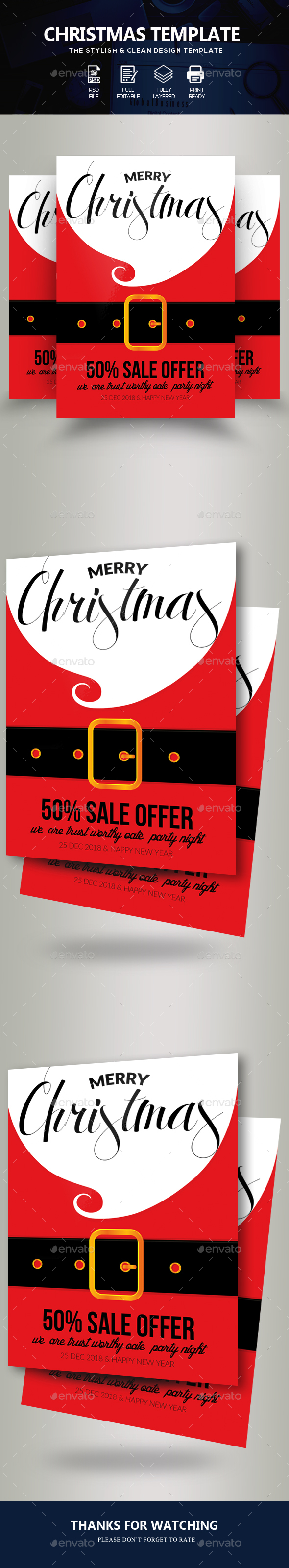 GraphicRiver Charistmas Santa Flyer 21020287