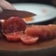 Chef Cutting Up an Tomato with a Knife - VideoHive Item for Sale