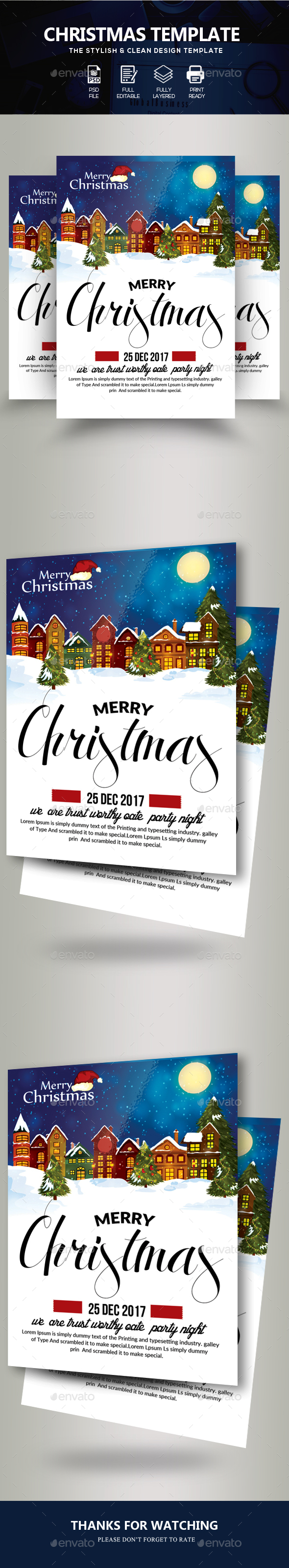 Marry Charistmas Flyer Template - Events Flyers