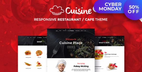 Cuisine - Restaurant WordPress Theme   Restaurant & Cafe - Restaurants & Cafes Entertainment