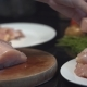 The Cook Cuts the Chicken Breast in Half, Raw Chicken, Chef Cooks Chicken Breasts, Poultry Meat - VideoHive Item for Sale