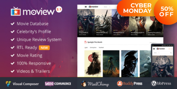 Moview - Responsive Film/Video DB & Review Theme