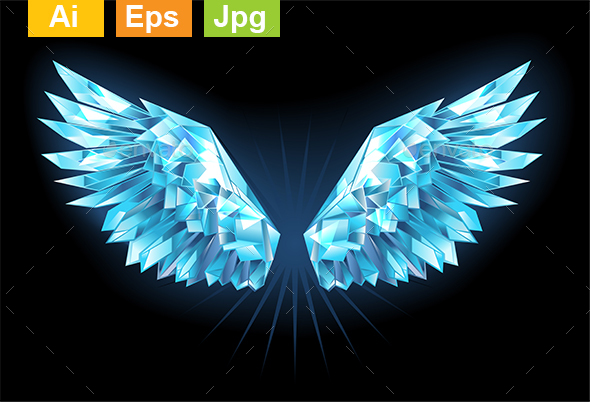 GraphicRiver Crystal Ice Wings 21020340