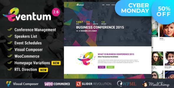 Eventum - Conference & Event WordPress Theme for Event & Conference