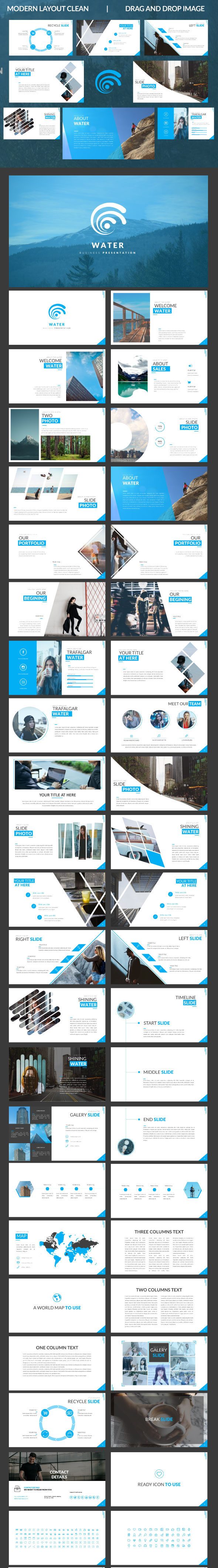 Water - Powerpoint Template - Business PowerPoint Templates