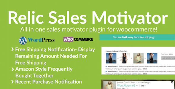 WooCommerce Sales Motivator - Live Sales & Shipping Notification and Frequently Brought Together - CodeCanyon Item for Sale