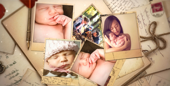 VideoHive Falling Photo Frames 20973250