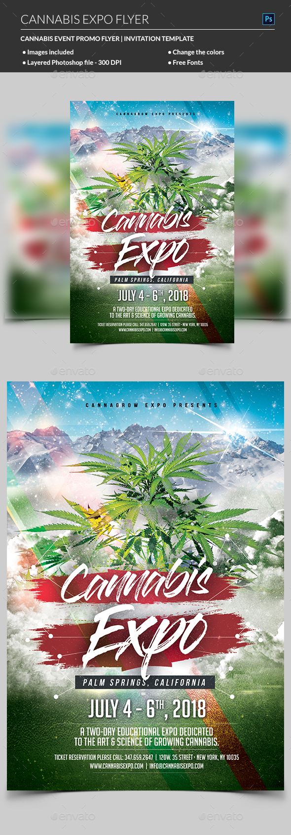 Cannabis Flyer - Flyers Print Templates