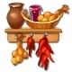 Provision From Onions, Jug of Milk, Pepper and Jam - GraphicRiver Item for Sale