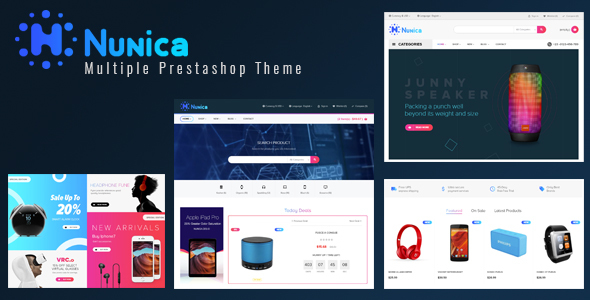 Leo Nunica - digital and electronics Prestashop 1.7 theme - Technology PrestaShop
