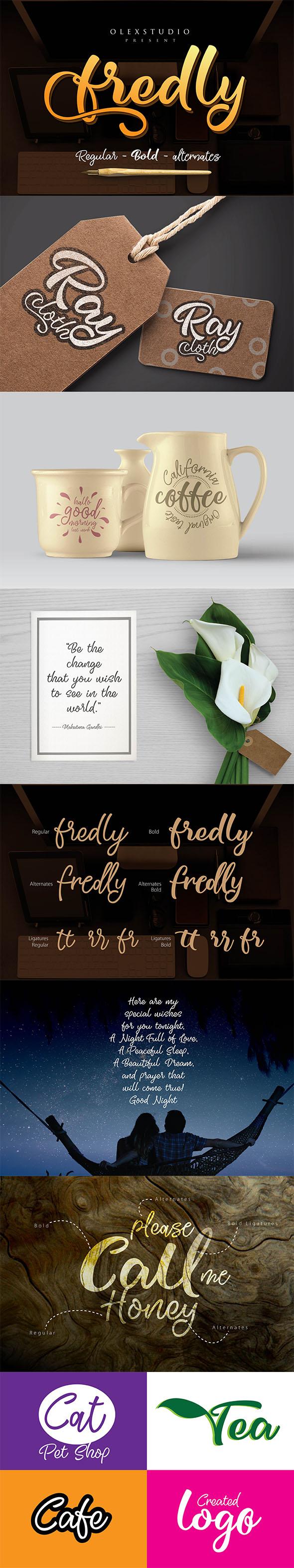 Fredly - Script Fonts