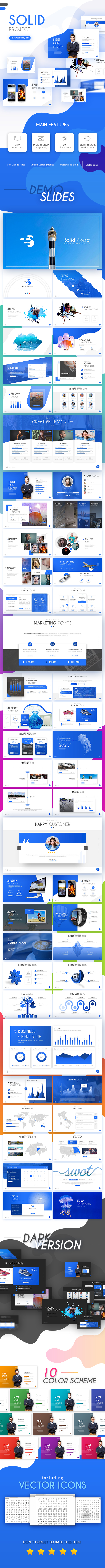Solid Project PowerPoint Template - Business PowerPoint Templates