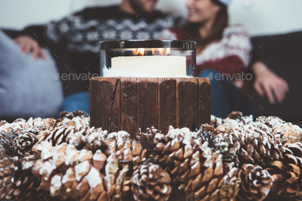 Close up composition of candle - Stock Photo - Images