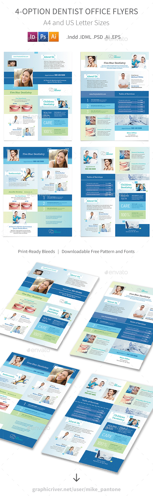 GraphicRiver Dentist Office Flyers 5 4 Options 21021328