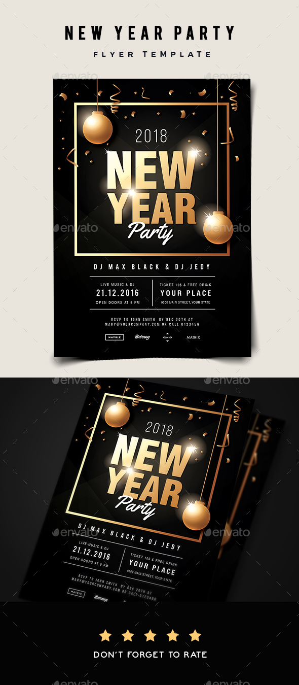 GraphicRiver New Year Party Flyer 21021363