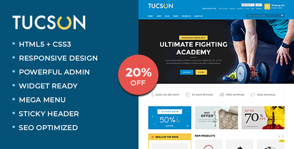 Tucson - Sports Store WooCommerce WordPress Theme - WooCommerce eCommerce