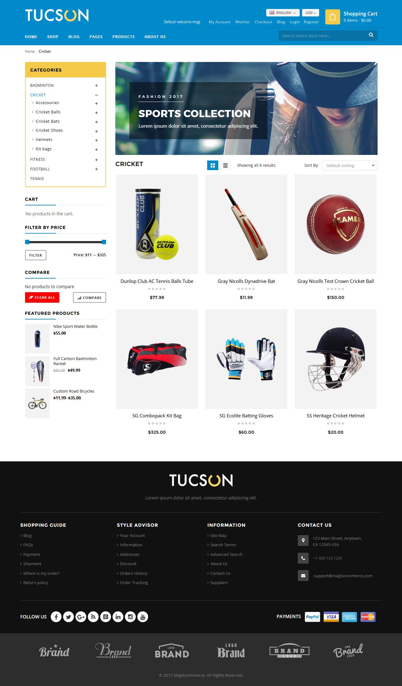 Tucson - Sports Store WooCommerce WordPress Theme by MagikCommerce