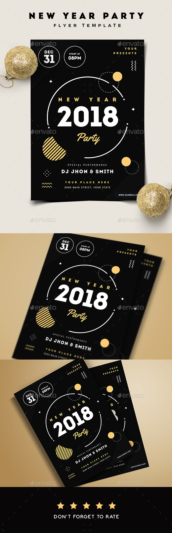 New Year Party Flyer - New Year Greeting Cards