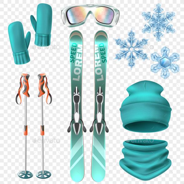 Ski Winter Icon Set - Sports/Activity Conceptual