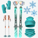 Ski Winter Icon Set