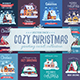 Rural Winter Houses Christmas Cards - GraphicRiver Item for Sale