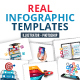 Realistic infographics pack