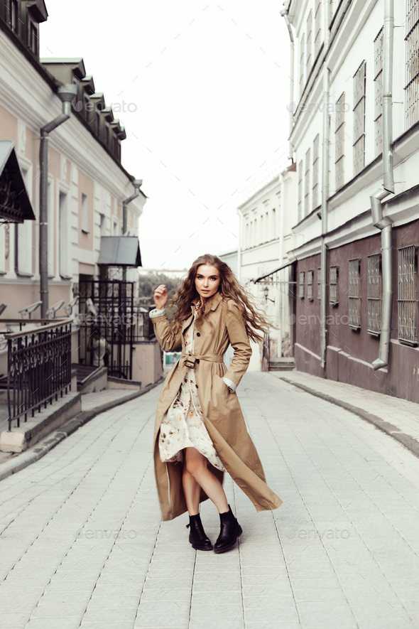 woman wearing coat - Stock Photo - Images