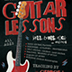 Guitar Lessons Flyer Template V2 - GraphicRiver Item for Sale