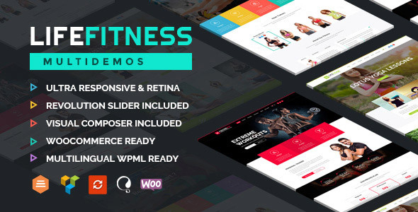 Life Fitness - Gym&Sport WordPress Theme - Health & Beauty Retail