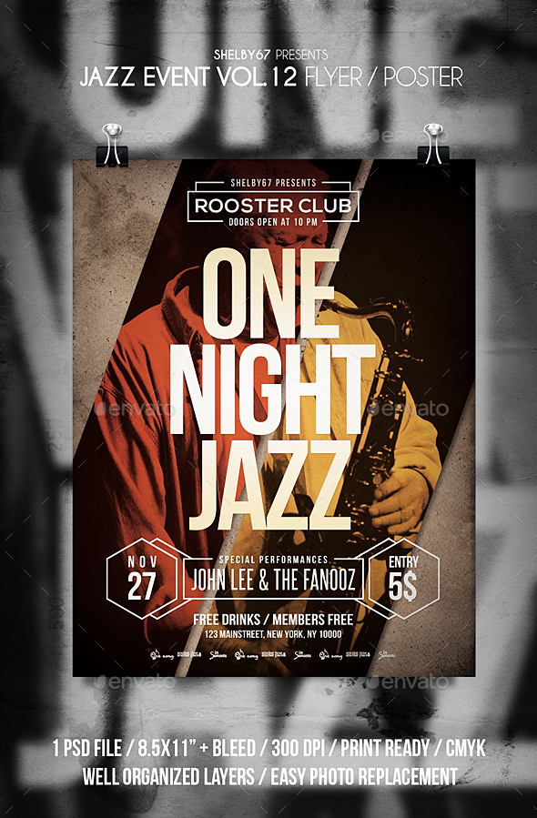 Jazz Event Vol 12 - Events Flyers