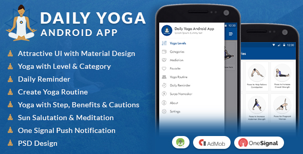 Daily Yoga Android App - CodeCanyon Item for Sale