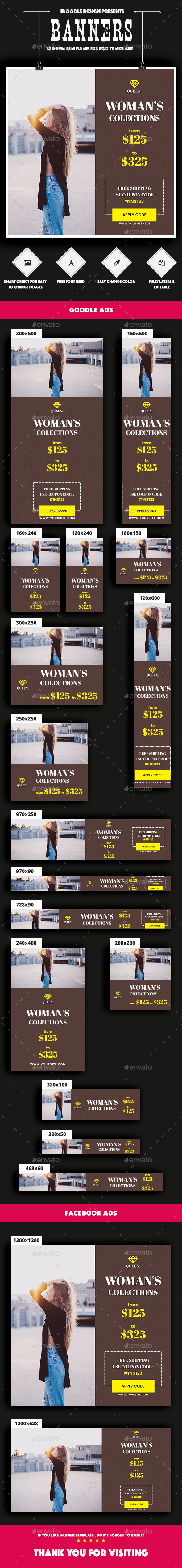 GraphicRiver Fashion Banners Ads 21022165