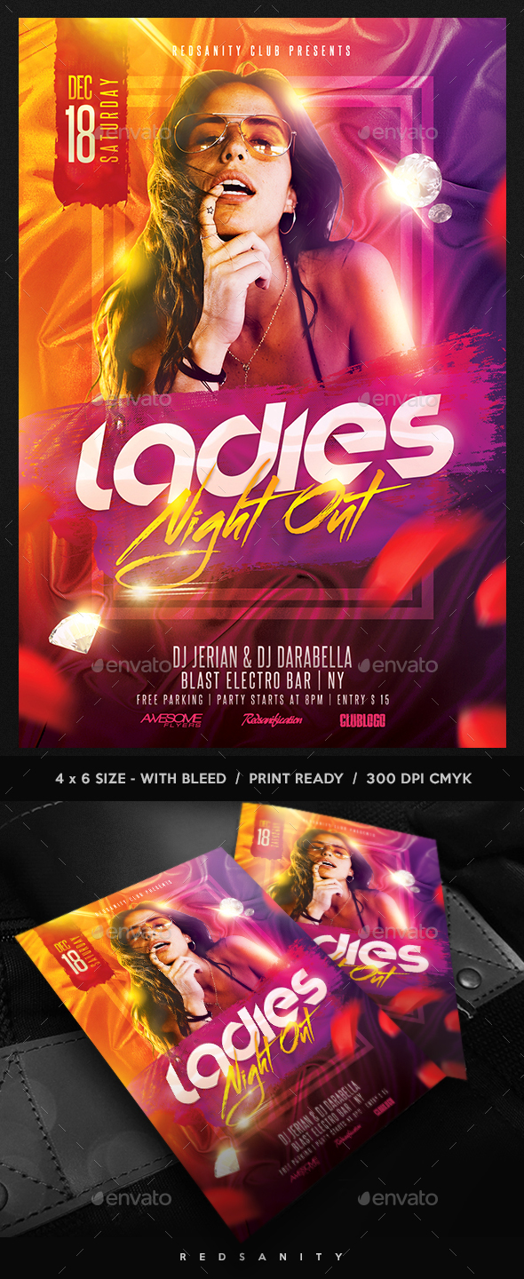 GraphicRiver Ladies Night Flyer 21022238