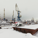 Port cranes in winter - PhotoDune Item for Sale