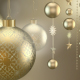 Golden Christmas Ornaments - VideoHive Item for Sale
