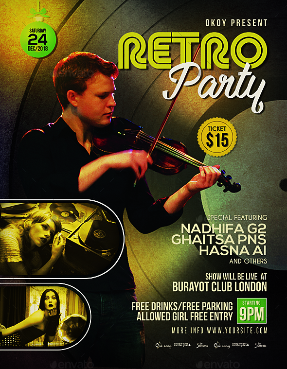 Retro Music Event Flyer / Poster