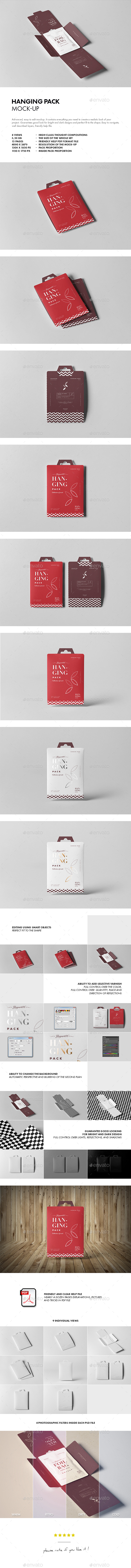 GraphicRiver Hanging Pack Mock-up 21022498