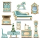 Shabby Chic Interior Furniture and Christmas Tree - GraphicRiver Item for Sale
