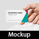 Hand Holding Business Card Mock-Up Set Vol.1 - GraphicRiver Item for Sale